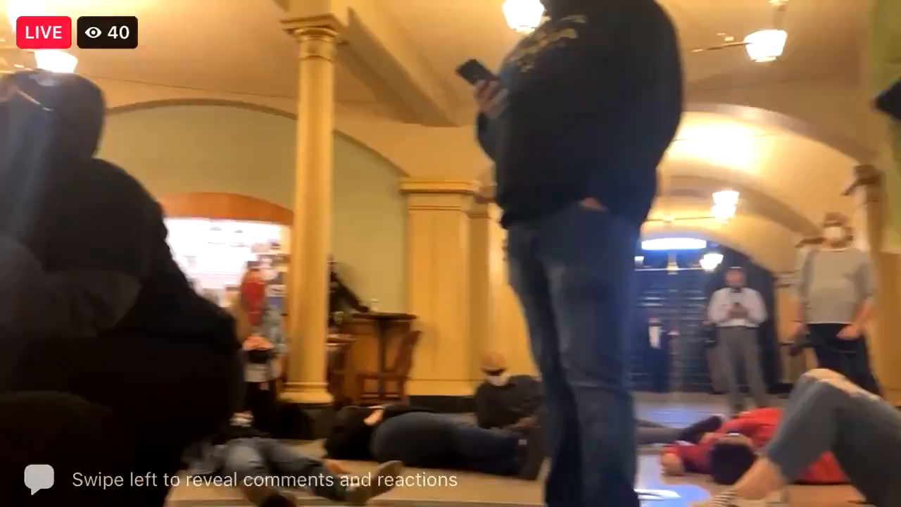 This is a real fucking insurrection! BLM has forced their way into the Capitol Apr 8
