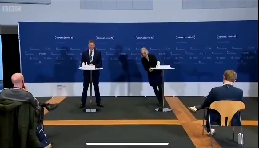 2nd video different angle! Danish drug regulator FAINTS! :)