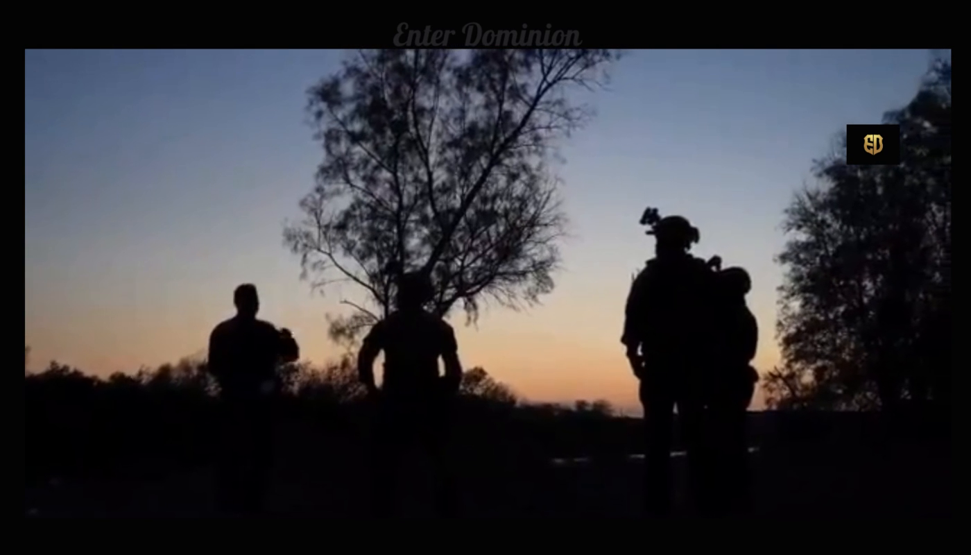100 of Pedo Biden's soldiers arrived through small part of Texas river, in 3 hr last night