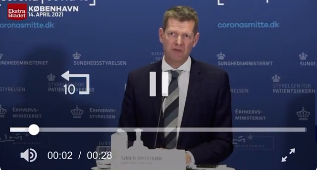 "⁣Denmark banned AstraZeneca ""vaccine"" and during the live stream announcement one of the government officials collapsed"