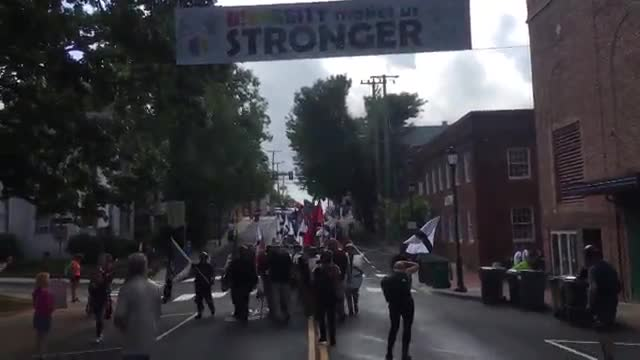 """NSM & Allies Marching Towards the """"Unite the Right"""" Rally Charlottesville VA 2017"""