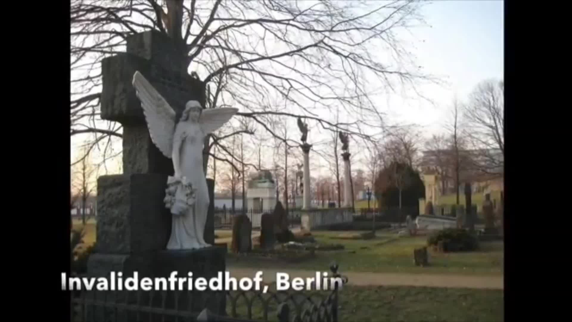 "Manfred Richthofen "" Red Baron"" Funeral / Grave in ancient German Cemetery."