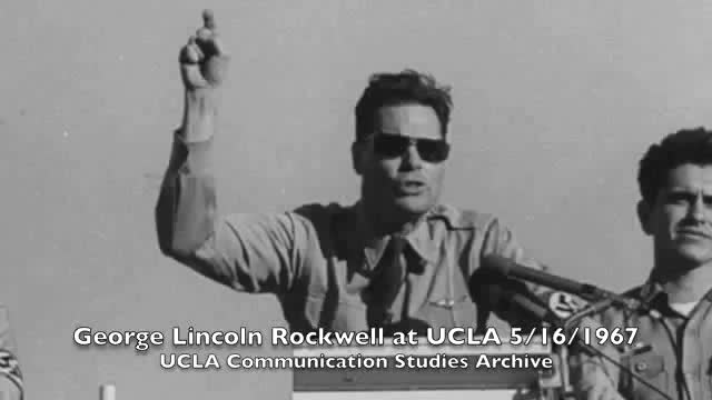 Commander George Lincoln Rockwell Speech University of California Los Angeles 1967 (FULL)