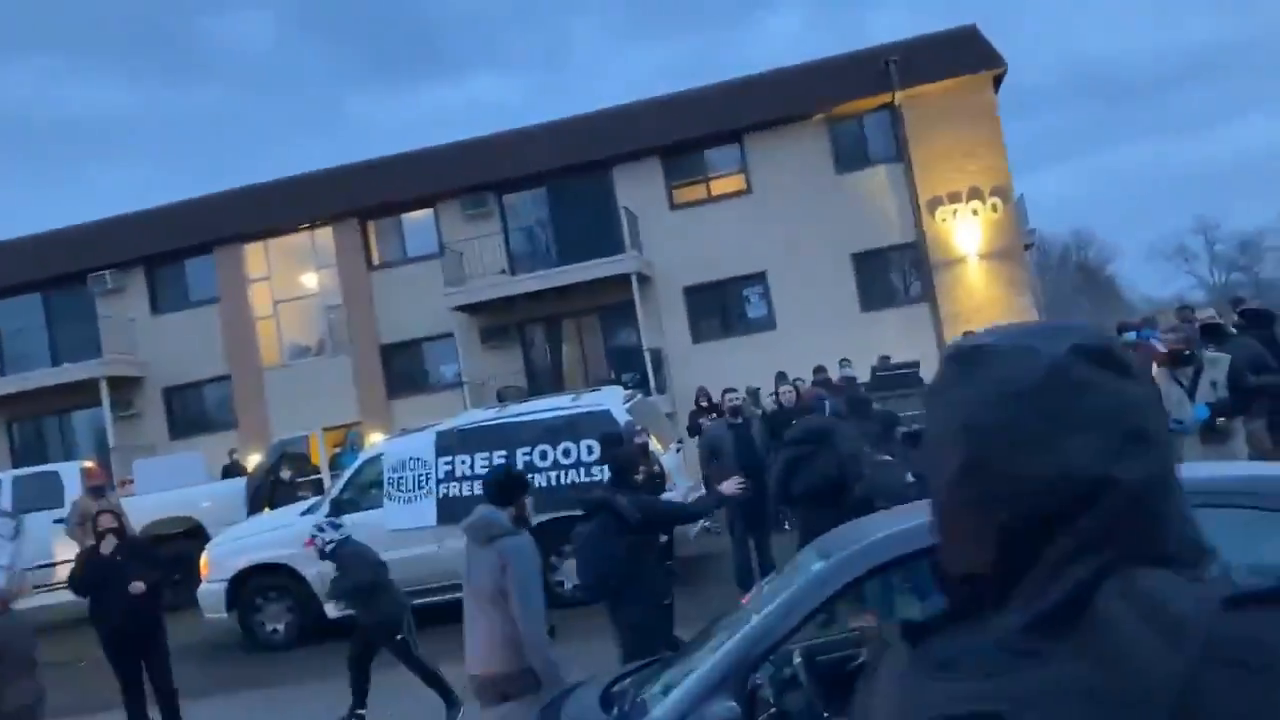 CNN RATS WERE egged AND chased out of Brooklyn Center! :)