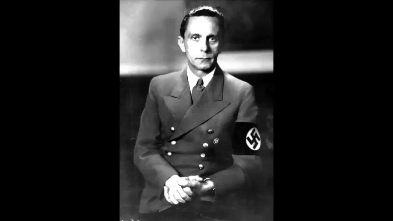 Joseph Goebbels - We National Socialists Have Never Feared the jEws