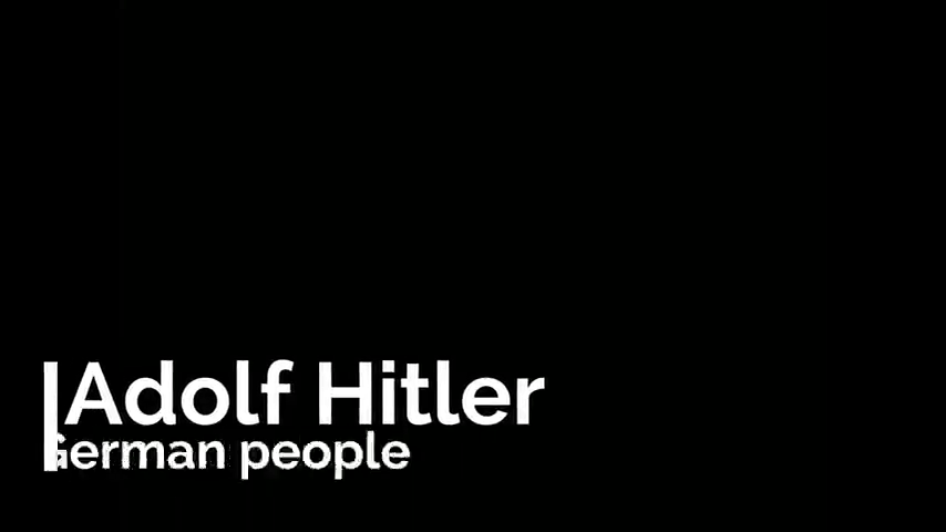 Adolf Hitler And The German People.