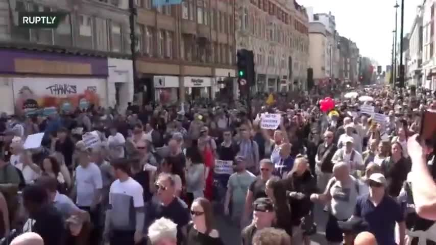 LONDON 24TH APRIL MARCH FOR FREEDOM