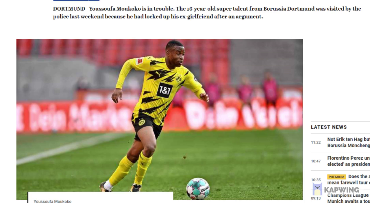 "German police raid house of an african football player because he locked up his ex girlfriend inside ... media claims hes a ""soccer talent"" with 16yr old ... honk honk"