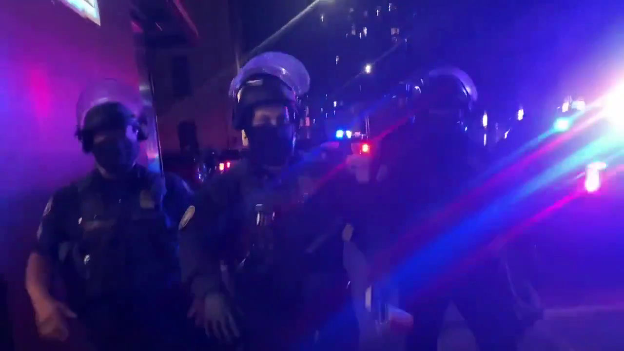 Police just maced a press and took the boombox of a scum + more PortlandProtests