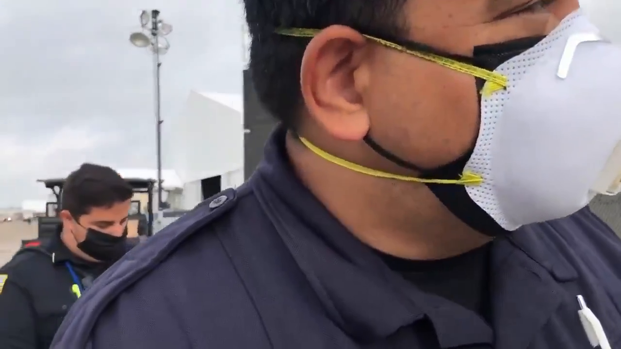 Drew Hernandez: Today I attempted to film a report on public property in front of the Donna Facility
