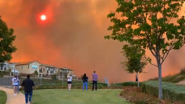 LA County, California - Suburbia Burns Again - Under a blood red sky