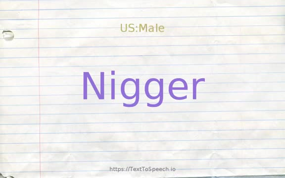 How to pronounce nigger