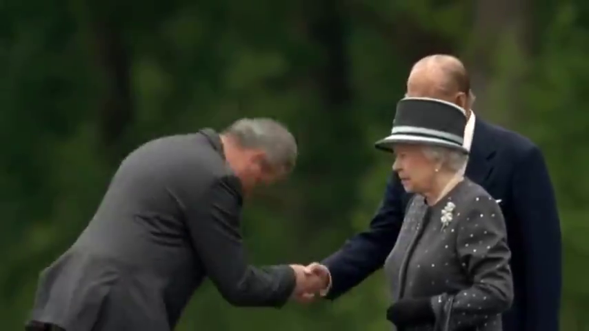 ⁣Prince Phillip and Queen visit Belsen - Holohoax Propaganda location