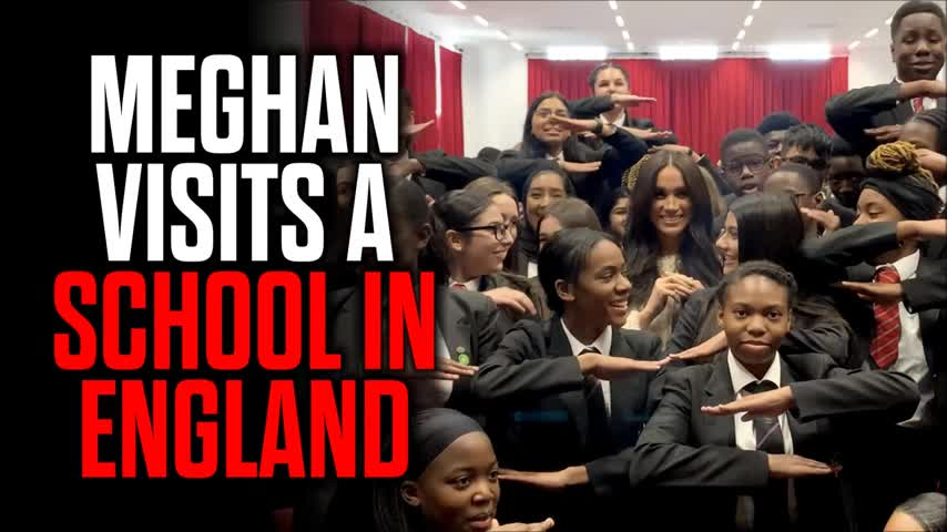 Meghan Markle Visits a School in England