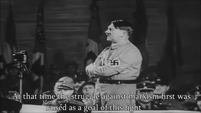 Adolf Hitler alerting the people