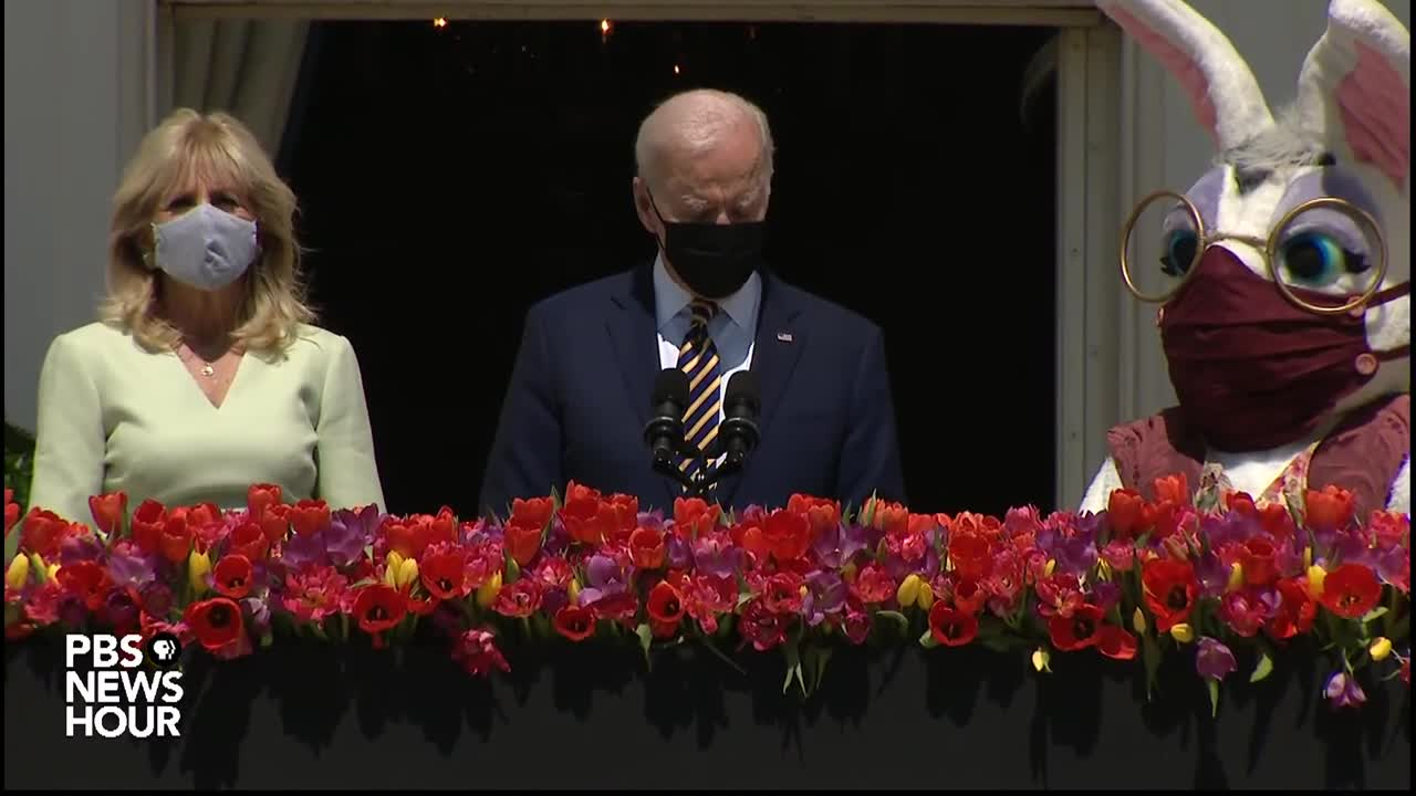 Look at this Pedo Demon Clown putting a mask on the Easter bunny!!
