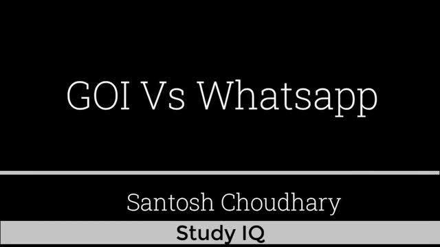 WhatsApp Privacy Policy - Indian Government warns WhatsApp with legal action - U