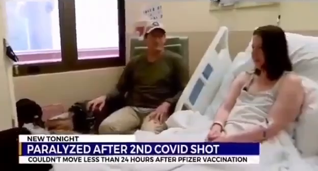Woman paralyzed after second Covid shot.
