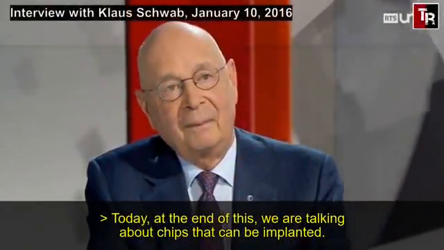 "ICYMI - Transhumanist Klaus Schwab, Founder and President of the World Economic Forum, said in 2016: ""Humans will have a microchip implanted under the skin or in the brain within 10 years"""