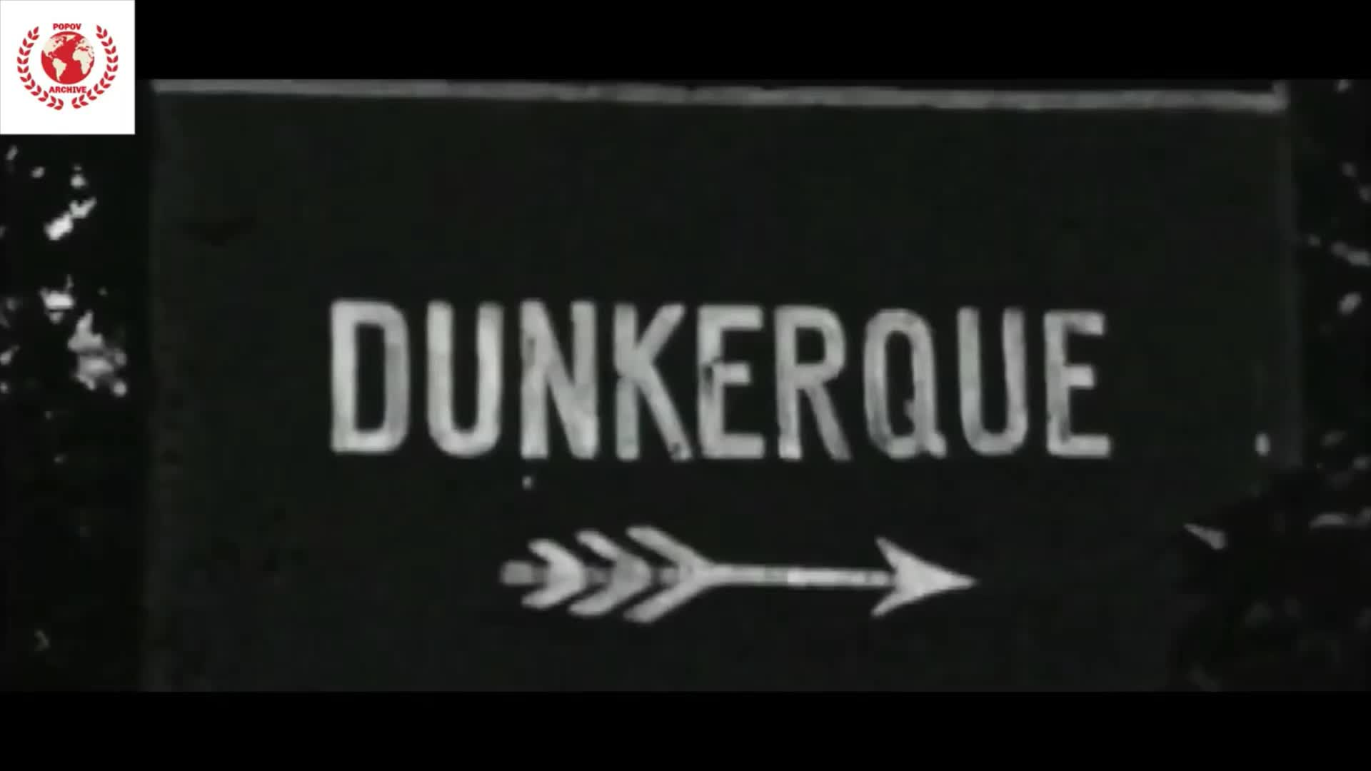 Fascist Wehrmacht capture Dunkirk and fly the Swastika. (1940)