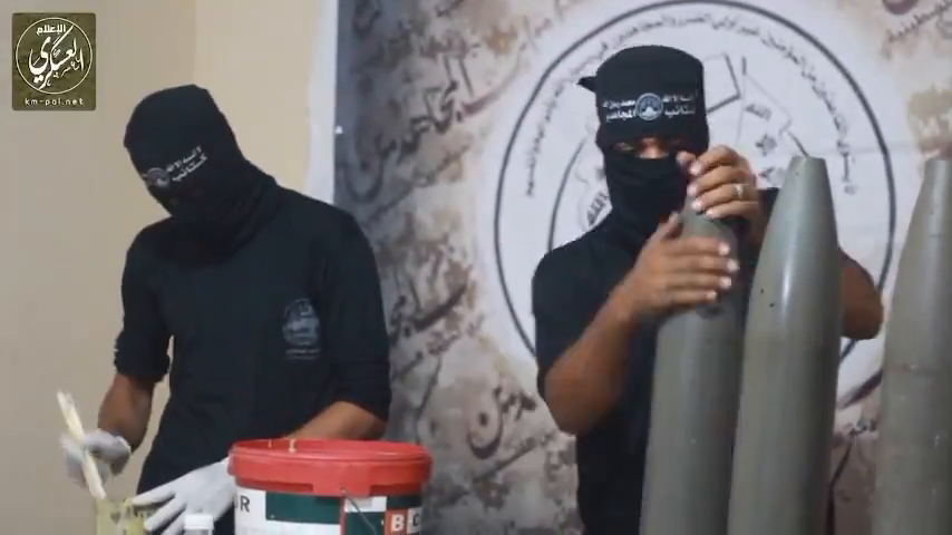 Video of the 107mm Artillery shells being prepared for Israel.