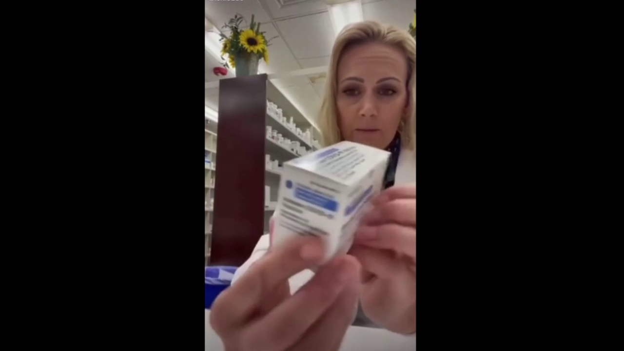 Pharmacist shows insert in covid vaccine is completely blank.