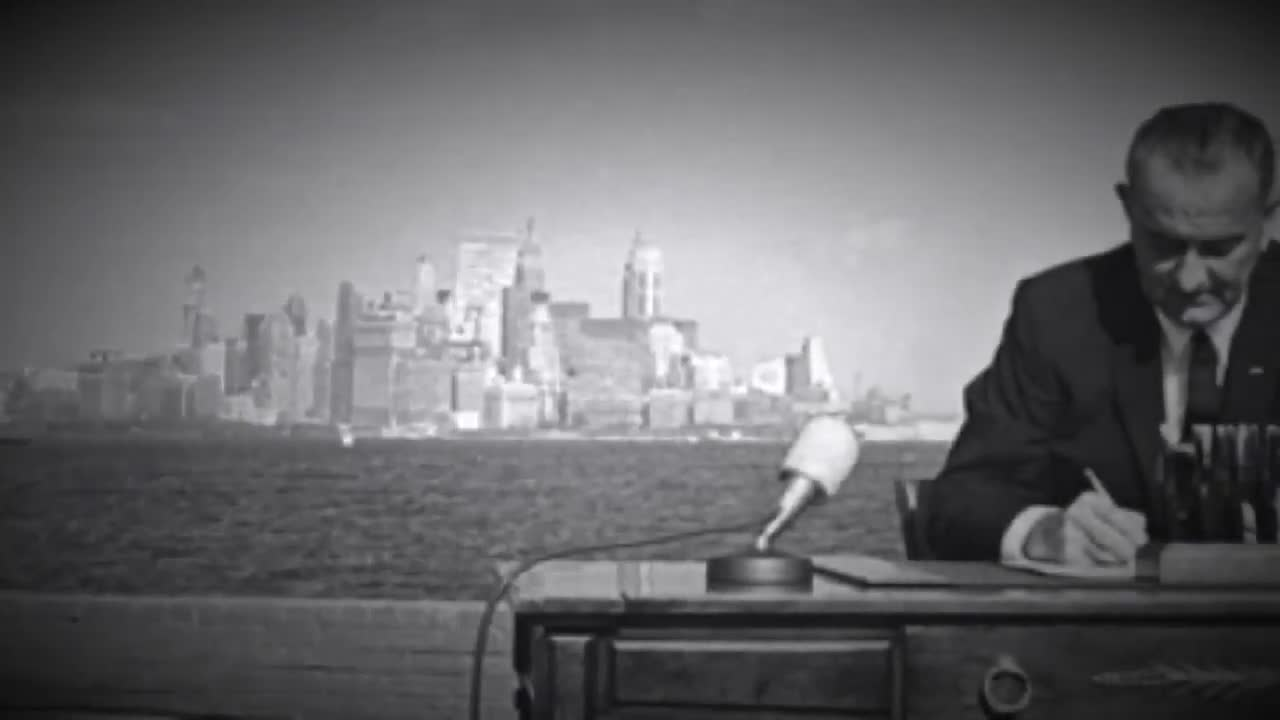 LBJ lying at the signing of the 1965 immigration act
