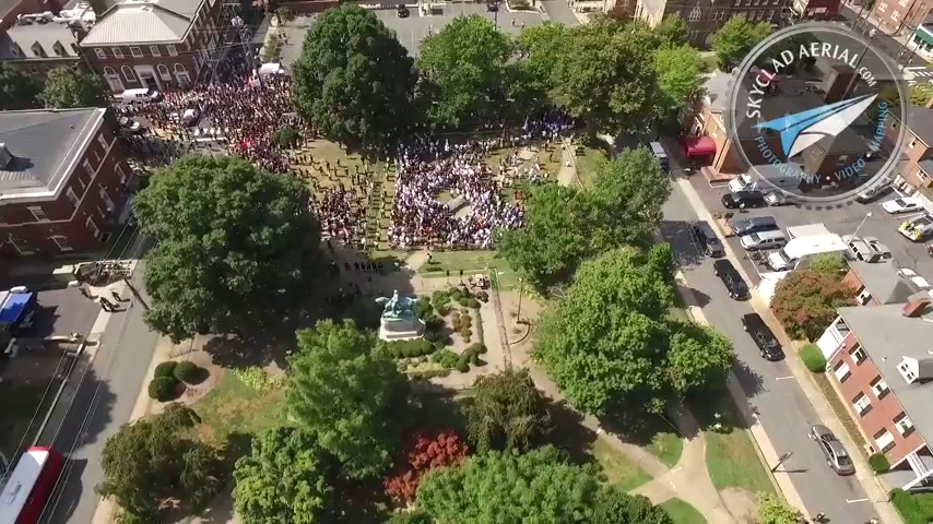Never-Before-Seen Drone Footage from Charlottesville 2017 Protests Reveals Enormous Extent of Media Lies and Propaganda