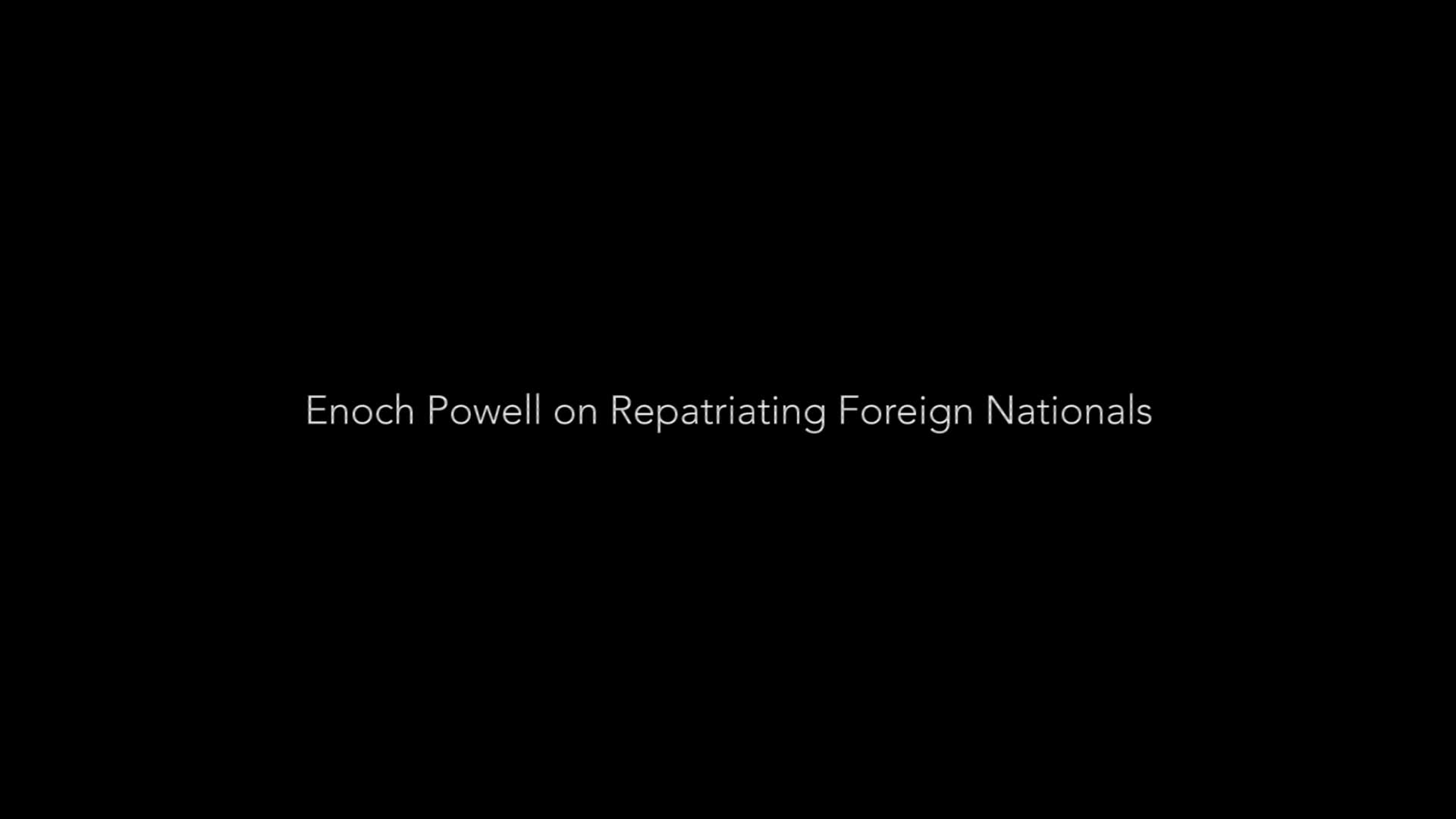 Enoch Powell Interview on Repatriating Migrants (1976)