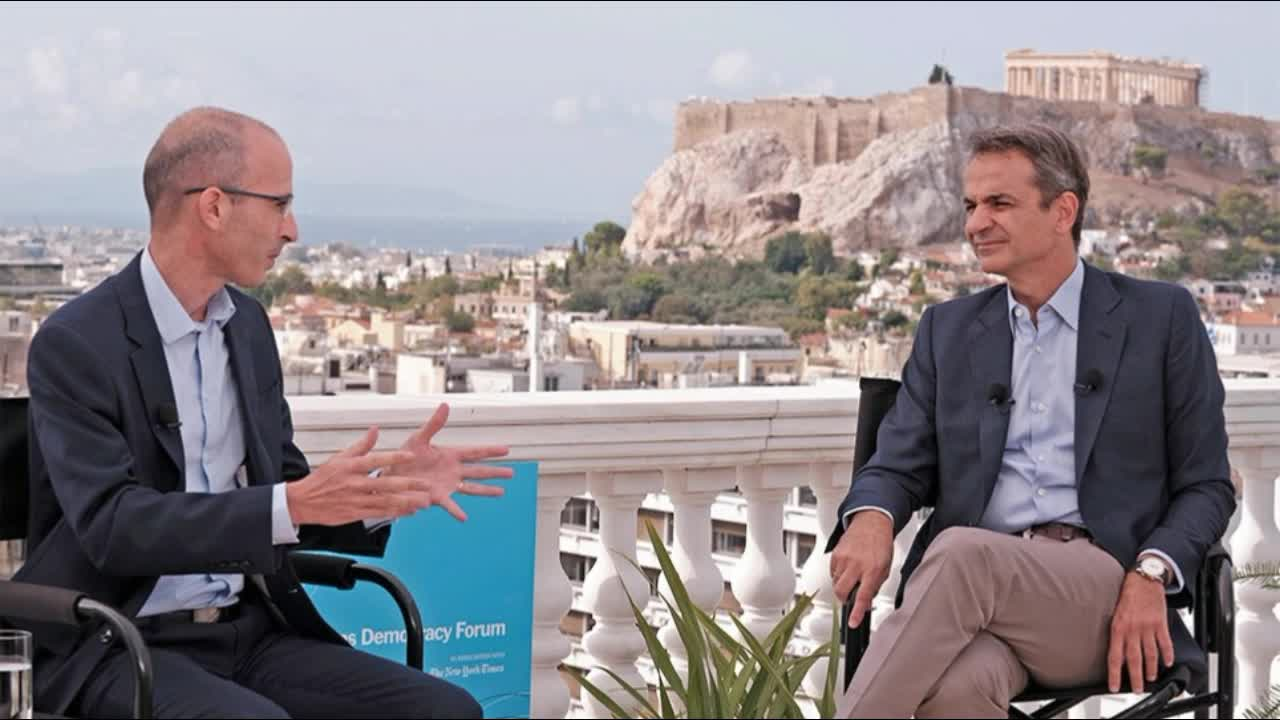 Conversation between Kyriakos Mitsotakis and Yuval Noah Harari  Athens Democracy Forum 2020 LINK IN THE DESC