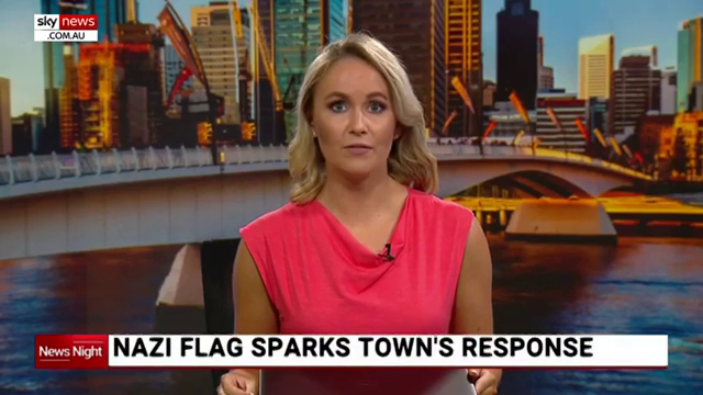 Peaceful protest against display of Nazi flag in Victorian town of Beulah