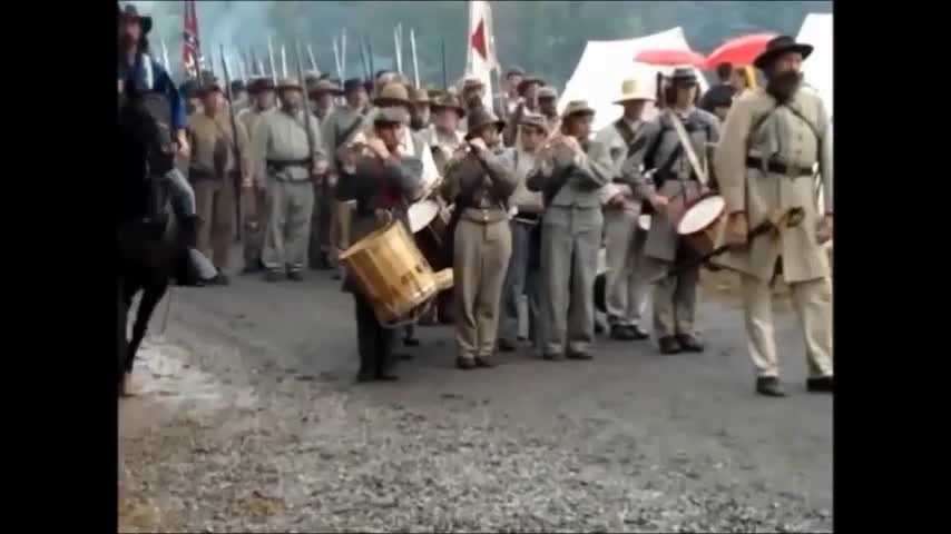 Confederate Army on The March - White Pride - o/