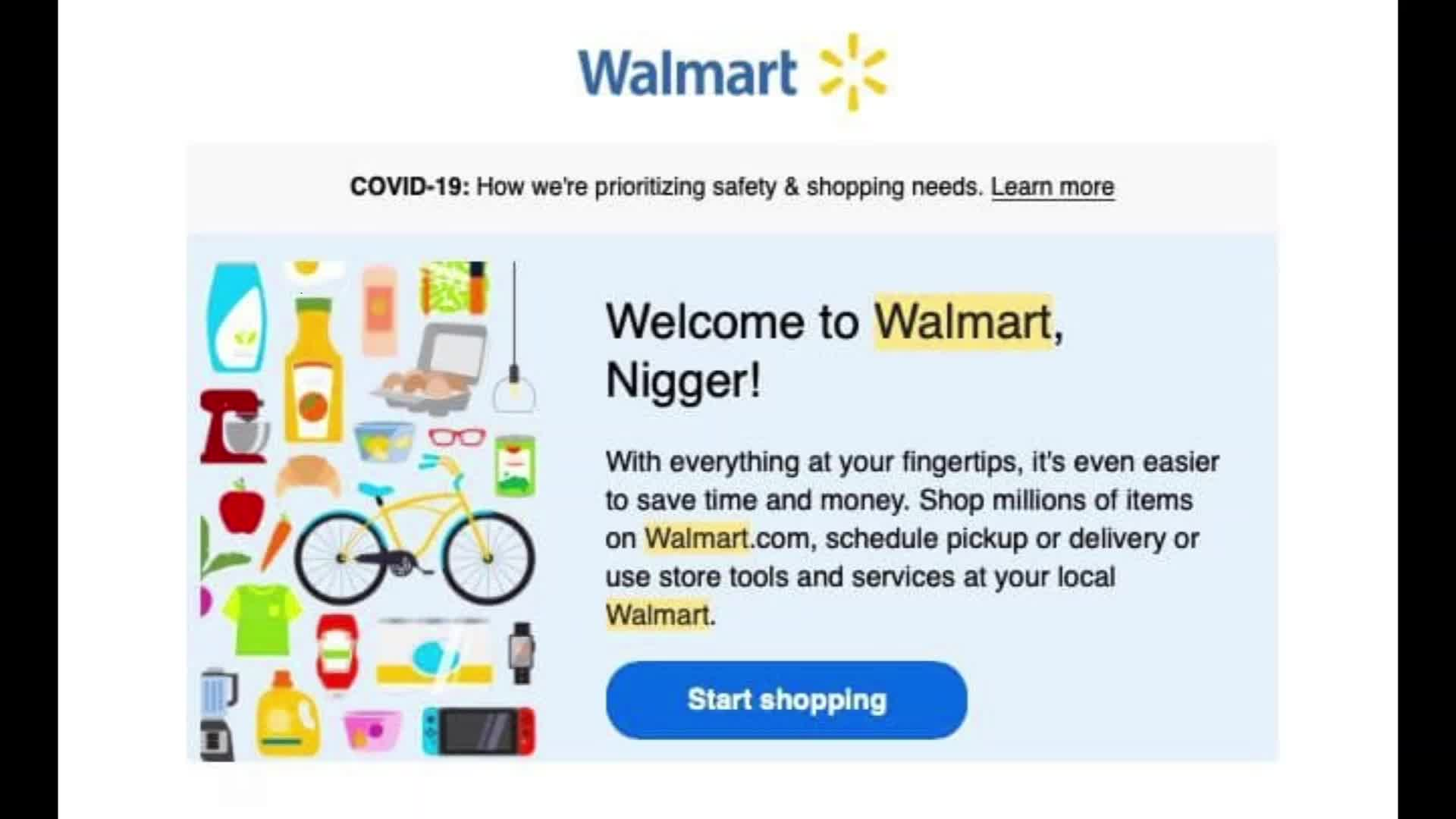 Based Belgian used a bot & 750k+ email addresses, to change first names of blacks, w Walmart accounts to nigger