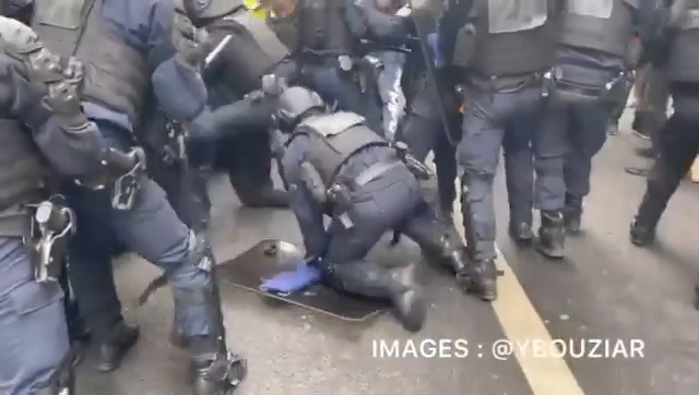Paris France today! Civil war, just as it was planned!