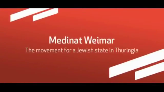 """""""Medinat Weimar"""" , creating a jewish state in Thuringia , Germany"""