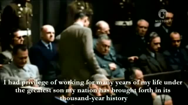 Rudolf Hess - His last words before final jugdment in Colour