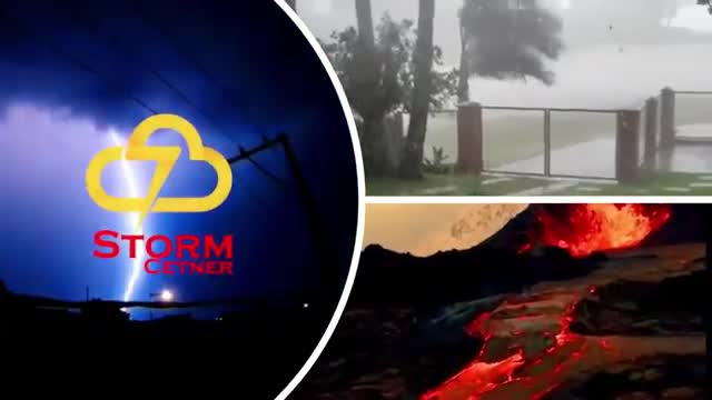Severe storms accompanied by heavy rain sweeping the city of Moscow! Russia