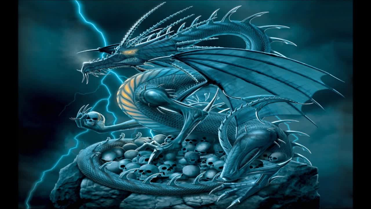 They worshiped the Dragon 7 power of Satan