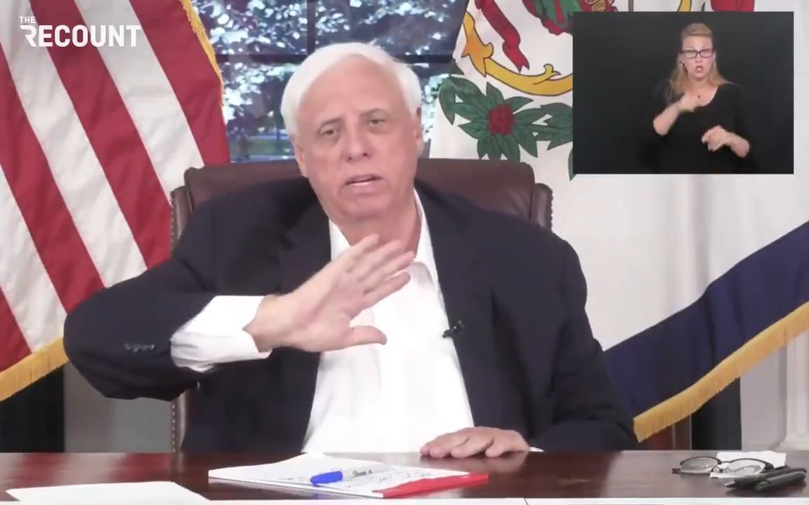 Gov. Jim Justice (R-WV) goes off about the unvaccinated: