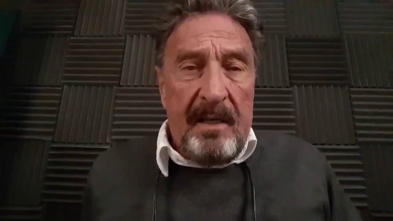 """Antivirus creator John McAfee published this video in July 2020, calling out the so-called """"deep state"""" in the US."""