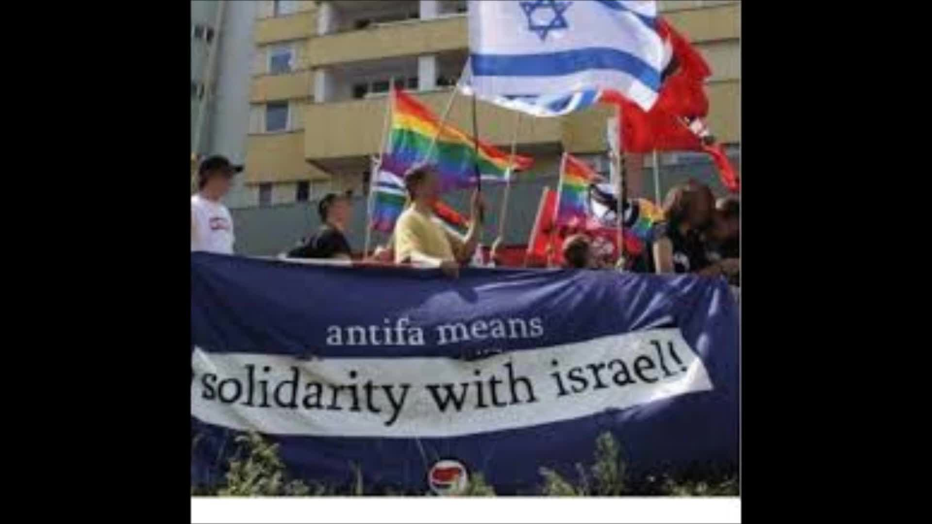 ANTIFA means solidarity with Israel.
