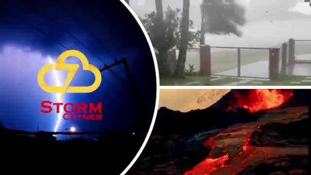 A terrible hail storm hits New York City! United State