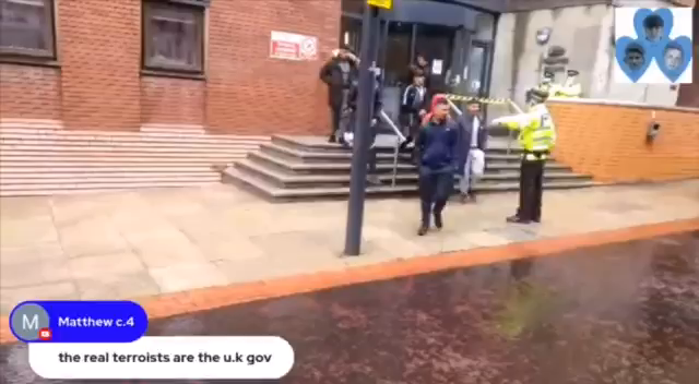3rd world invaders went to a court in UK to support their scum murderers friends