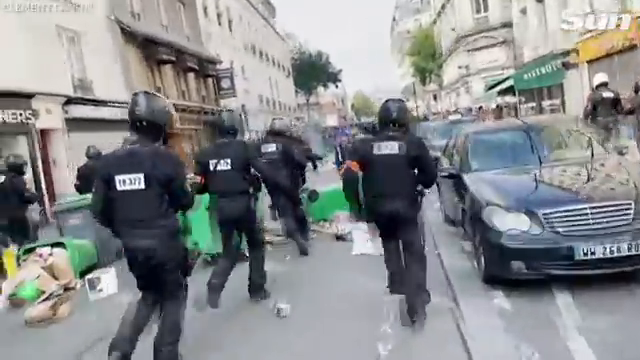 Police fire tear gas at protesters against French Covid-19 passport rules
