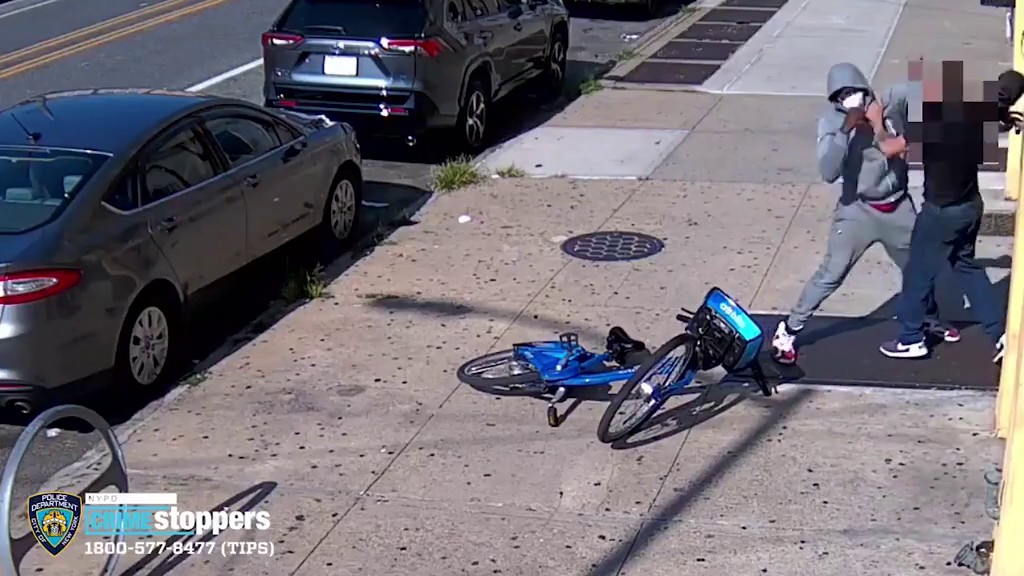 A 68-year-old white man is brutally attacked in broad daylight by a black man.