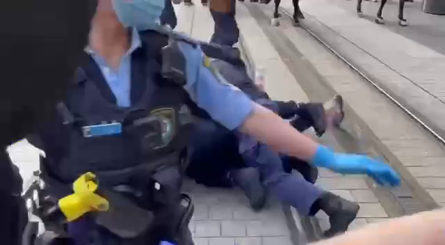 This sums up the Treatment of freedom protesters in Victoria...
