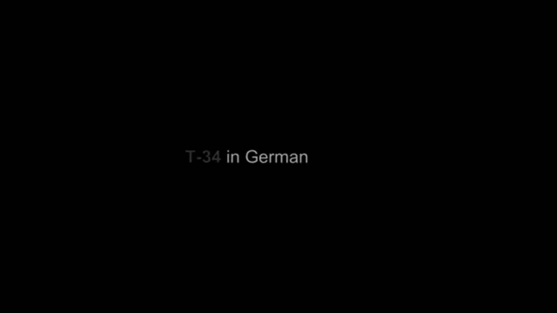 Captured T-34 in German (Axis) service (See Description)