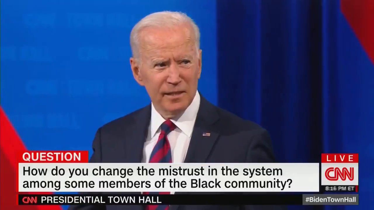 """ICYMI - Biden rambles whether or not there's """"a man on the moon"""" or """"aliens are here or not"""" when asked about vaccine hesitancy."""