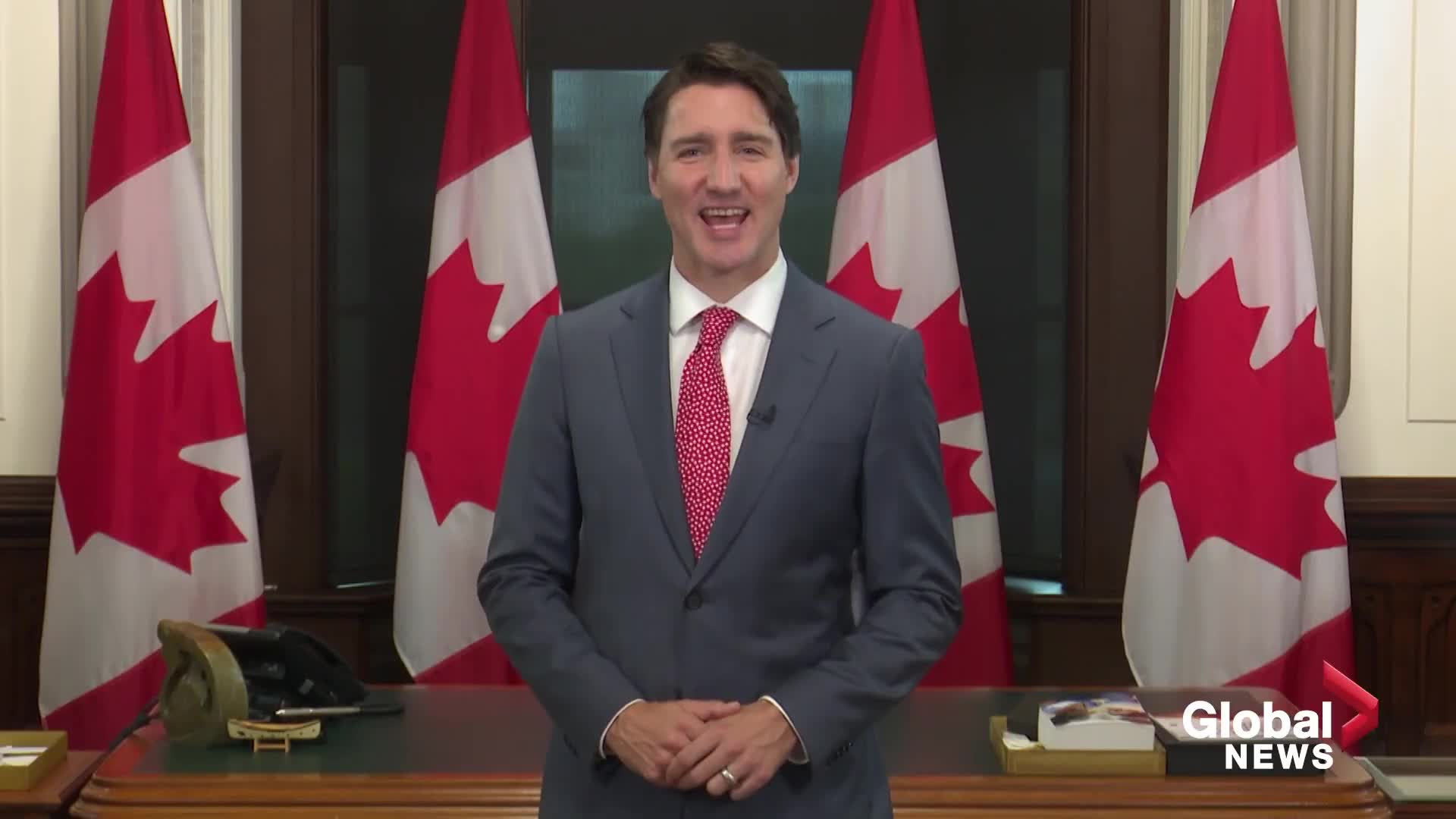 """🇨🇦🔥Trudeau the Pansyass Tyrant:  Clean-Shaven Commie tries to Guilt Canadians, for Canada Day """"Gift"""" Message"""