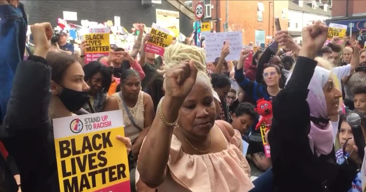 'Black Lives Matter' The cult of 'The Saint' continues in Manchester..